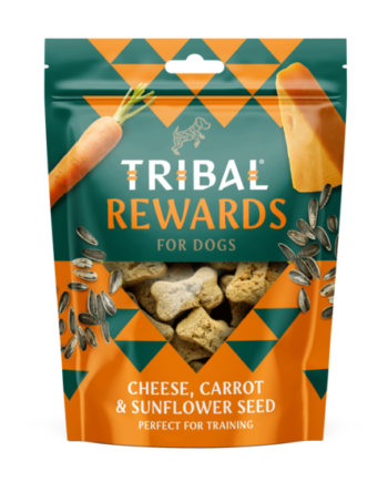 Tribal Kaas, wortel & zonnebloempittenCheese, carrot and sunflower seed oven baked dog cookies